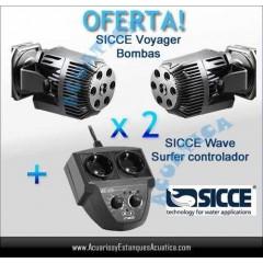 OFERTA! 2 SICCE VOYAGER 2 + WAVE SURFER CONTROLADOR