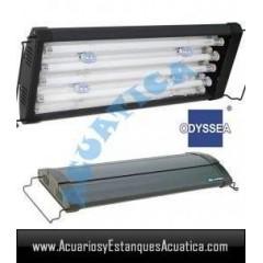 ODYSSEA T5 QUAD 60/80CM 4 X 24W + 4 LED ACUARIO DULCE