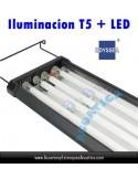 ODYSSEA T5 QUAD 120-140CM 4 X 54W + 4 LED ACUARIO DULCE