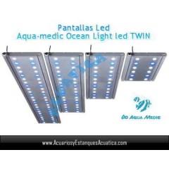 PANTALLA AQUAMEDIC OCEAN LIGHT LED TWIN 30CM 2X18W ACUARIOS