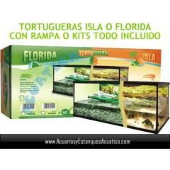 TORTUGUERA FLORIDA CRISTAL CON RAMPA