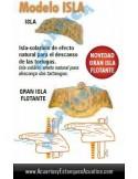 TORTUGUERA GRAN ISLA FLOTANTE CRISTAL