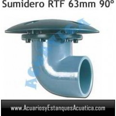 SUMIDERO BOTTOM DRAIN RTF 63MM 90º ESTANQUES