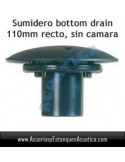 SUMIDERO BOTTOM DRAIN RTF 110MM RECTO ESTANQUES