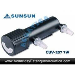 SUNSUN CUV-207 ESTERILIZADOR UV-C 7W ACUARIOS ESTANQUES
