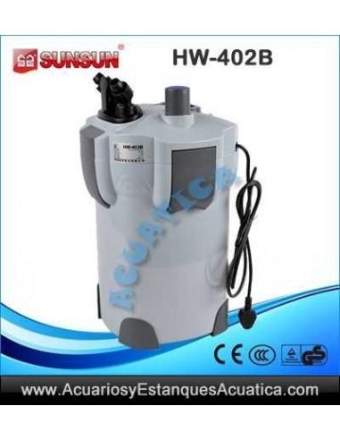 sunsun hw 402b uv filtro acuarios externo acuarios y