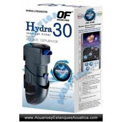 Filtro interior hydra 30 acuarios dulce y marinos for Filtro acuario marino