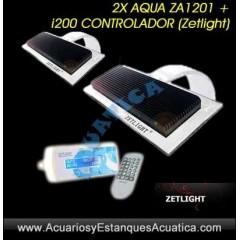 2 X ZETLIGHT AQUA 16W ZA1201 + CONTROLADOR PANTALLAS LED MARINO