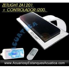 PANTALLA LED ZETLIGHT AQUA 16W ZA1201 + CONTROLADOR ACUARIOS MARINOS