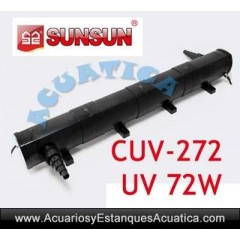 SUNSUN CUV-272 ESTERILIZADOR UV-C 72W ACUARIOS ESTANQUES