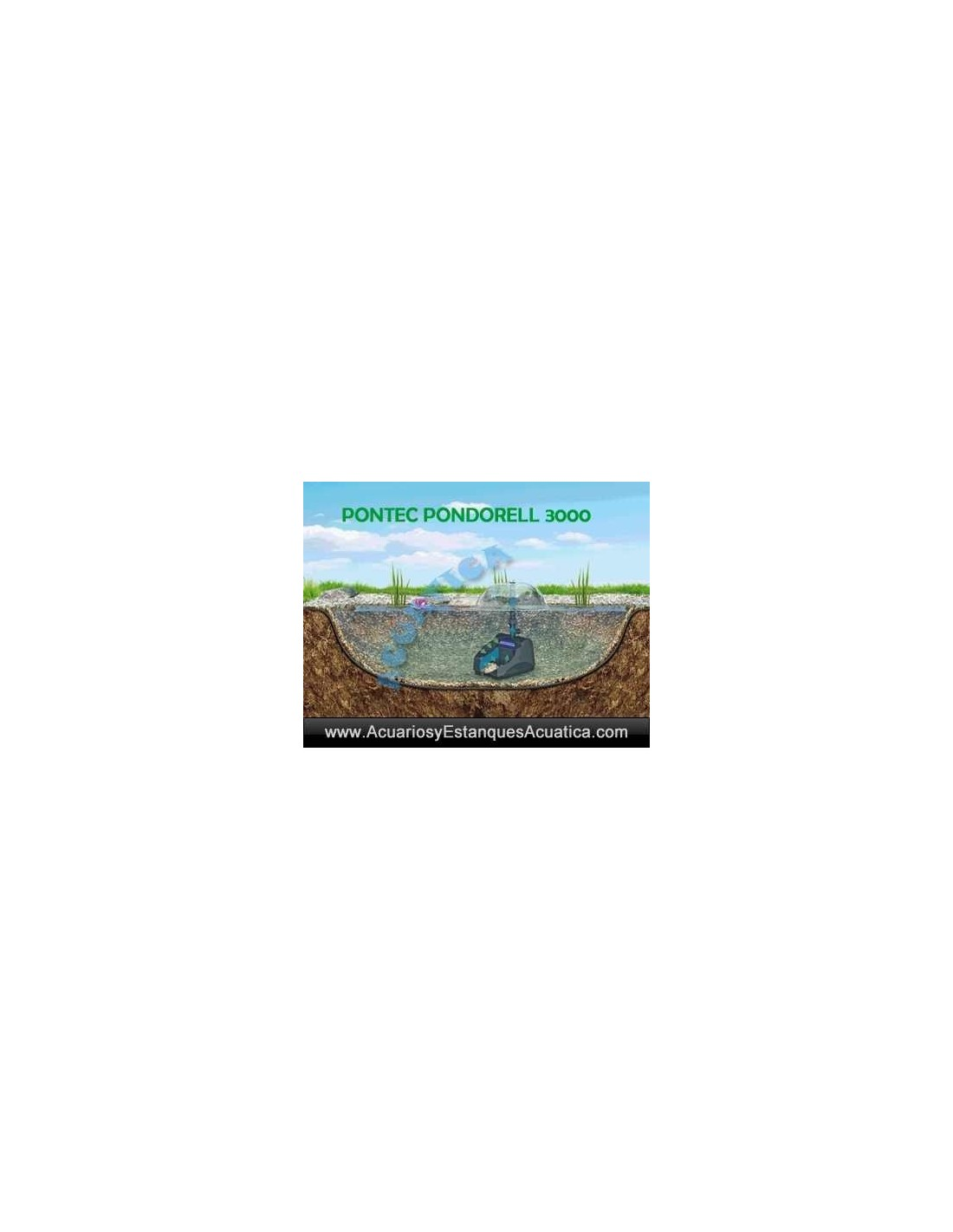 Pontec pondorell 3000 uv filtro estanques for Estanque 3000 litros