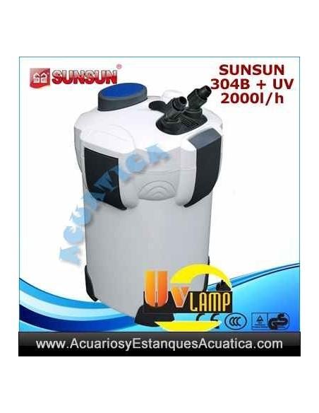 SUNSUN HW-304B + UV FILTRO ACUARIOS EXTERNO