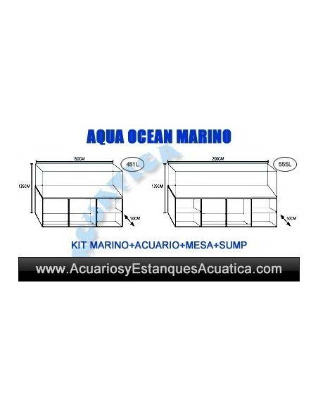 KIT ACUARIO MARINO AQUA OCEAN COMPLETO