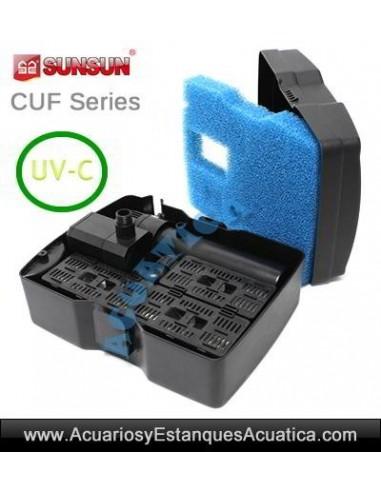 SUNSUN CUF-2500 FILTRO UV FUENTE ESTANQUES