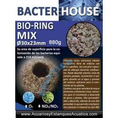 BACTERHOUSE BIO-RING MIX MATERIAL FILTRANTE ACUARIO ESTANQUE