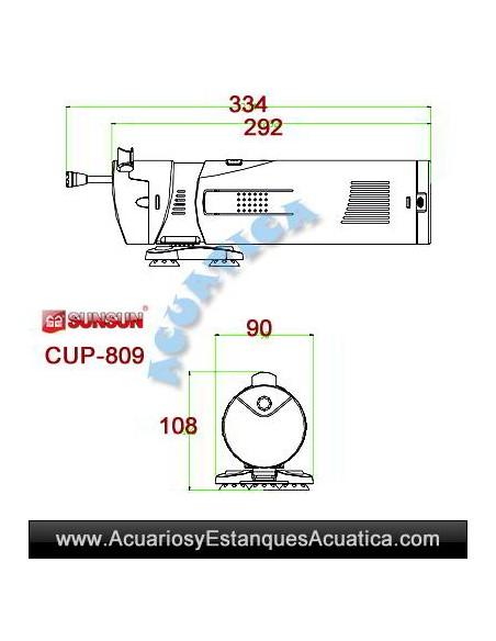 SUNSUN CUP-809 9W FILTRO UV CON BOMBA ACUARIO ESTANQUE