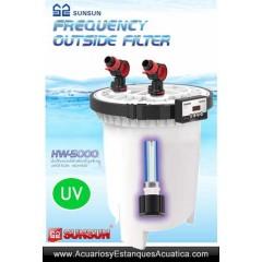 SUNSUN HW-5000 + UV FILTRO ACUARIOS EXTERNO