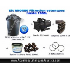 OFERTA KIT FILTRACION PRESION ESTANQUES 7,500L