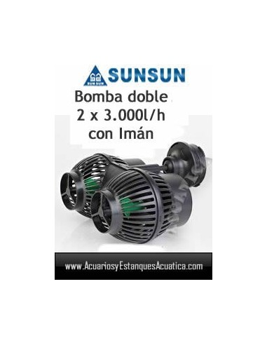 SUNSUN JVP-201-B BOMBA RECIRCULACION DOBLE 6,000L/H ACUARIOS